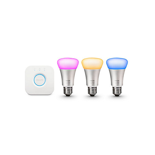 Hue White And Colour Ambiance A19 Starter Kit (Gen 3) - ENERGY STAR®