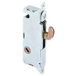 Prime-Line Mortise Lock, 3-11/16 inch Steel, 45 Degree Keyway, Round Faceplate, Spring-Loaded