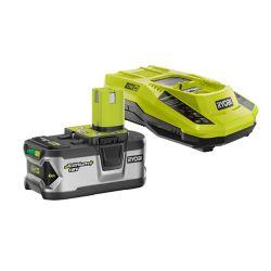 RYOBI Batterie LITHIUM+ 18V ONE+ Lithium-Ion 4.0 Ah LITHIUM+ et kit de démarrage pour chargeur IntelliPort