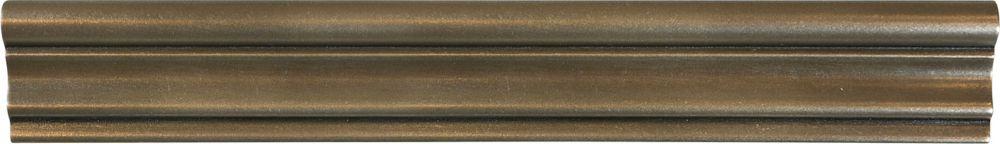 2-inch x 12-inch Metal Chair Rail in Bronze
