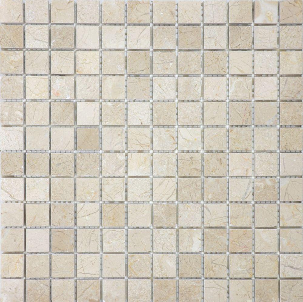 1 Inch x 1 Inch Marfil Polished Mosaics