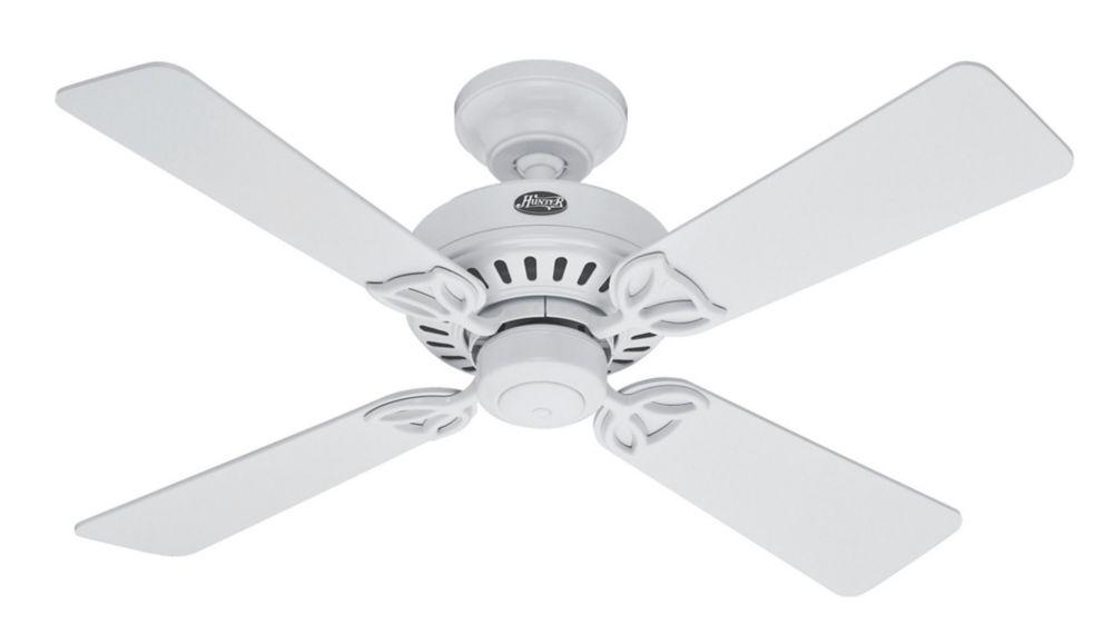 Hunter Bayport 42po Blanc Ventilateur de plafond