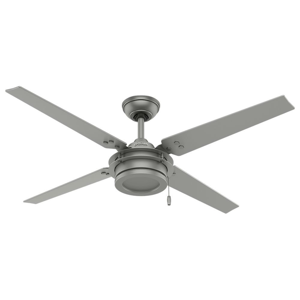 Hunter Gunnar 54 Inch Outdoor/Indoor Matte Silver Ceiling Fan
