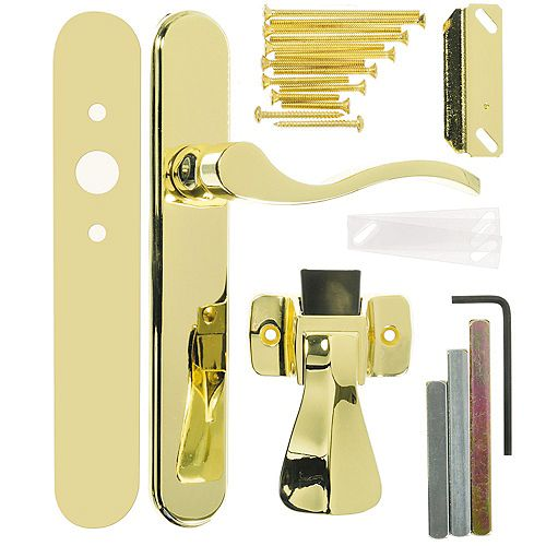 Wright Products Brighton Surface Mount Latch, Brass Plated