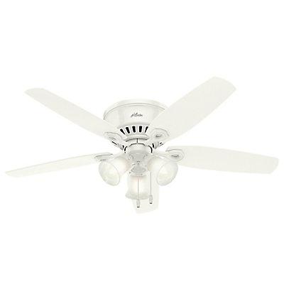 Hunter hunter builder 52 inch low profile white ceiling fan with 3 hunter builder 52 inch low profile white ceiling fan with 3 lights aloadofball Gallery