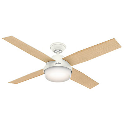 Hunter hunter dempsey 52 inch white ceiling fan the home depot hunter dempsey 52 inch white ceiling fan mozeypictures Image collections