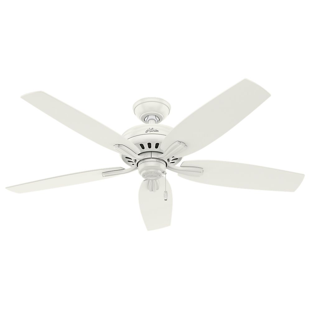 Hunter Newsome 52 Inch  Damp Rated White Ceiling Fan