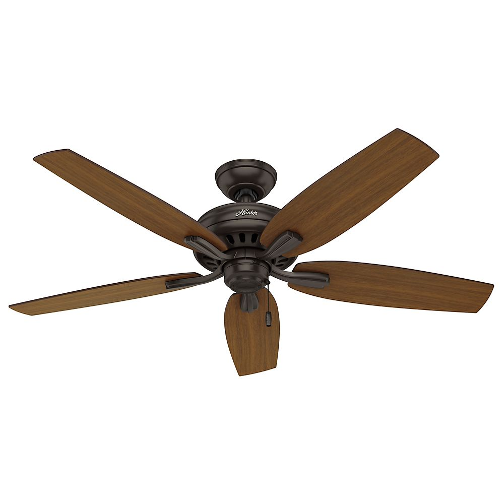 Hunter Newsome 52 Inch  Damp Rated Premier Bronze Ceiling Fan