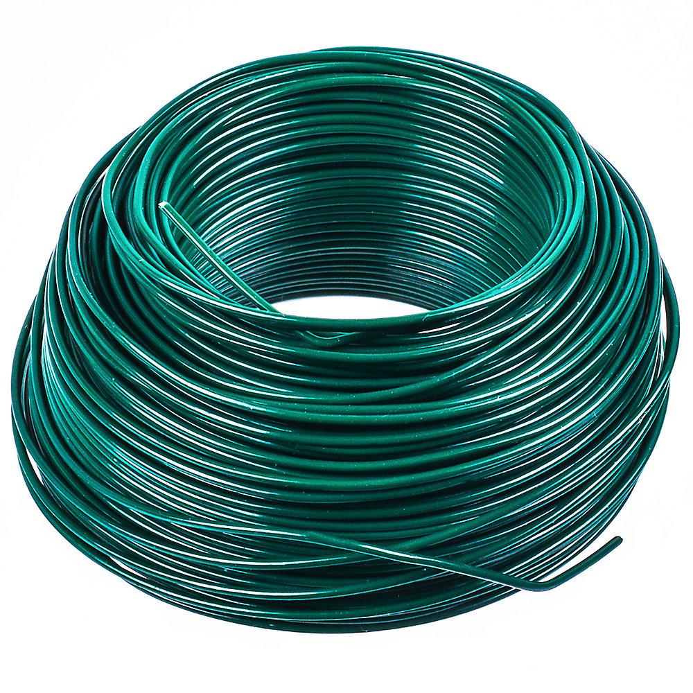Green PVC Steel Wire 20Gx100 ft.