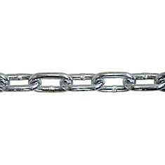 1/4 inch x 16 ft. Zinc-Plated Grade 43 High-Test Tow Chain with 1/4inch Grab Hooks - Heavy-Duty Bag