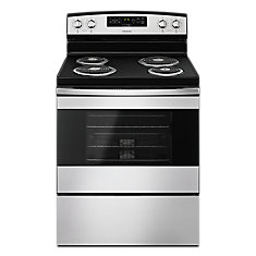 30-inch W 4.8 cu.ft Single Oven Electric Range in Stainless Steel