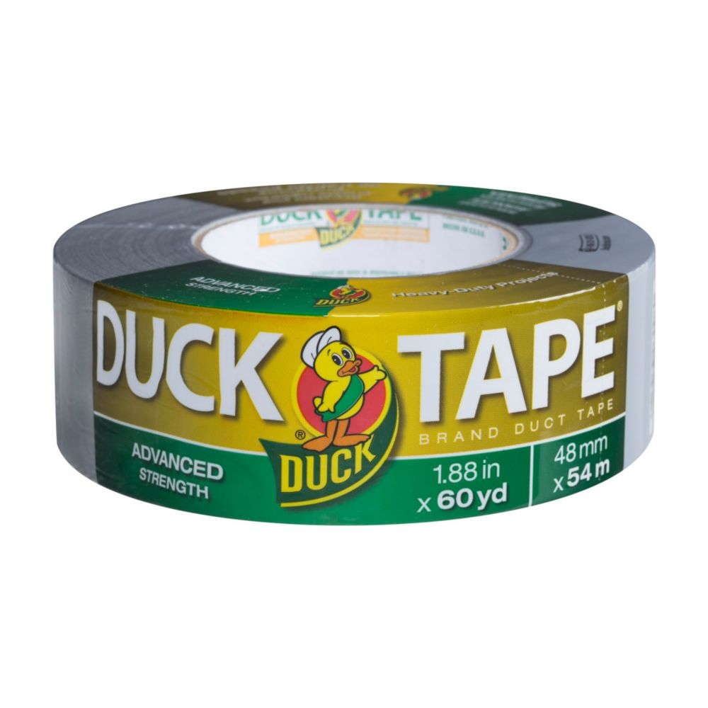 Duck Advanced Strength Duct Tape, Silver, 1.88 inch x 60 yds.