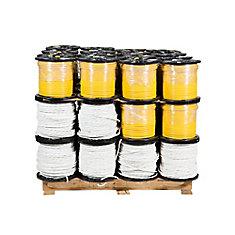 Câbre électrique en cuivre 14/3 et 12/2 Romex SIMpull NMD90 – Palette mixte de 48 bobines