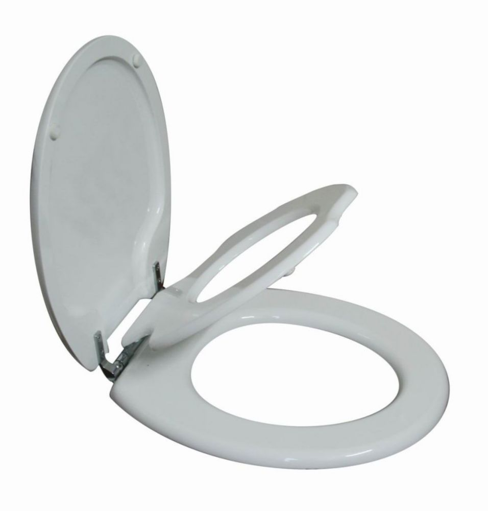 Tinyhiney Round SL Child And Adult 2 In 1. Gently Lid Close Chrome Hinge