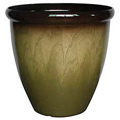 225 & 18-inch Faux Ceramic Egg Planter in Beige