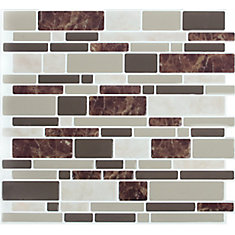 DBL Brown Marble Peel and Stick It 11.25X10 8 Pack