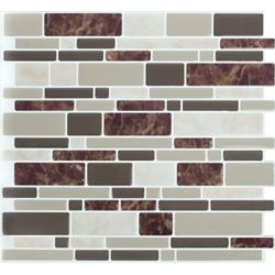 Stick-It Tiles DBL Brown Marble Peel and Stick It 11.25X10 (8-Pack)