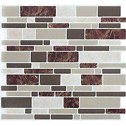Stick-It Tiles DBL Brown Marble Peel and Stick It 11.25X10 (4-Pack)
