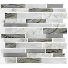 Marble Grey OBL Peel and Stick It 11.25X10 8 pack