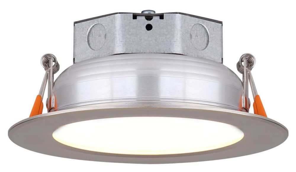 4 Inch LED brushed nickel recessed disk light