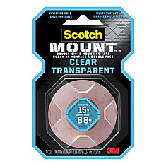 Clear Mount-inchg Tape 410DC-SFEF, 1 -inch x 5 ft (25,4 mm x 1,52 m)