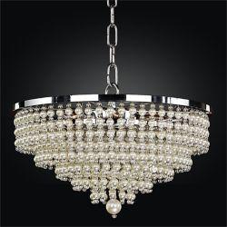 Glow Lighting 16 Inch Faux Pearl Bead Pendant Cava 639