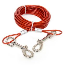Everbilt 20 ft. Heavy-Duty Dog Tie-Out Kit - For dogs up to 85 lbs.