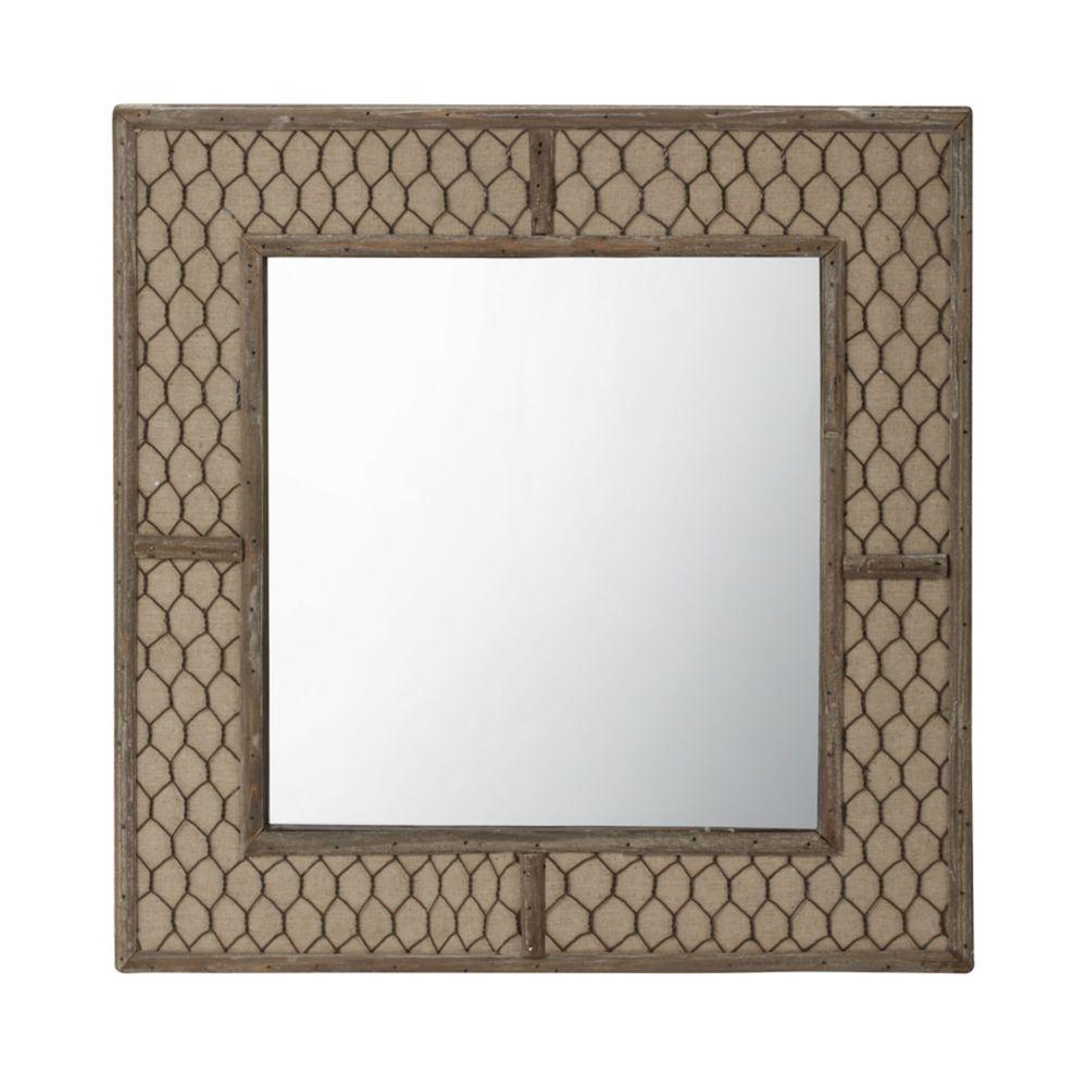 Canvas Wire Mirror