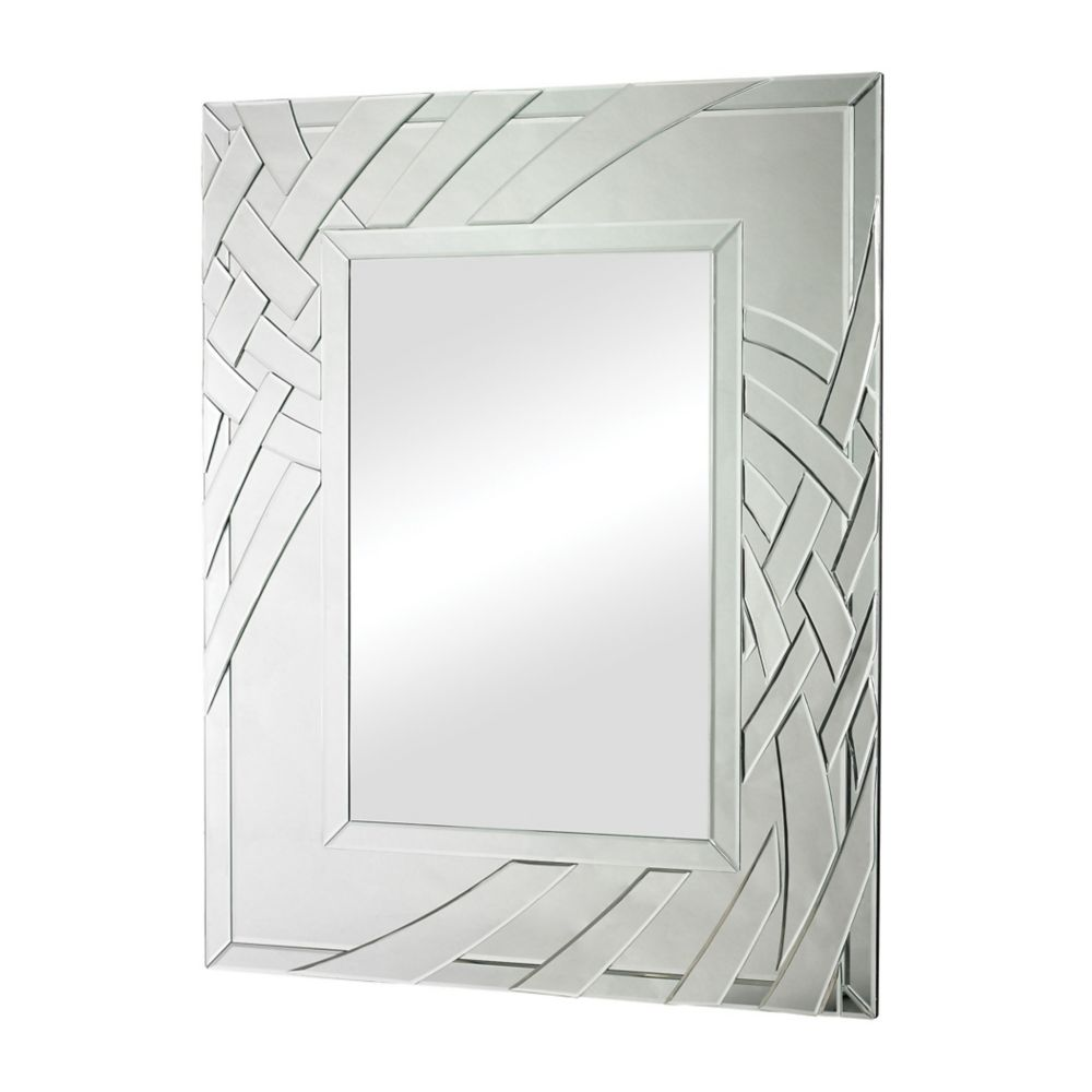 Arched Ribbons  Beveled Edge Mirror