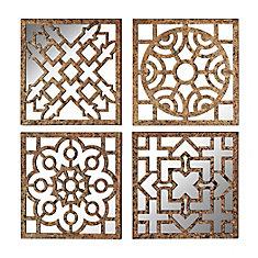 Mirrored Wall Panels - Set of 4