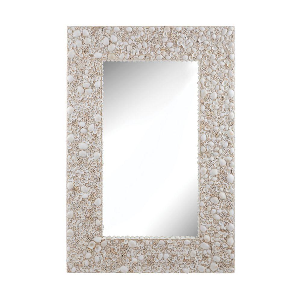 Miroir murale coquillage