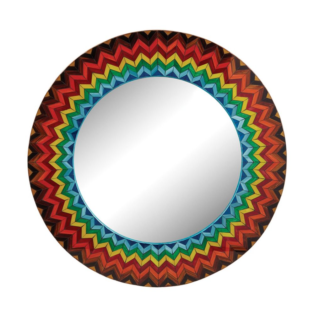 Vibrant Multi Starburst Mirror