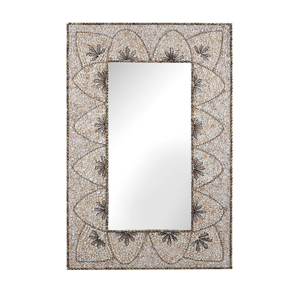Miroir arc en fleur coquillage