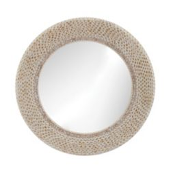 Titan Lighting Miroir coquillage anneau strié
