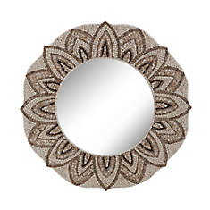 Miroir coquillage rond