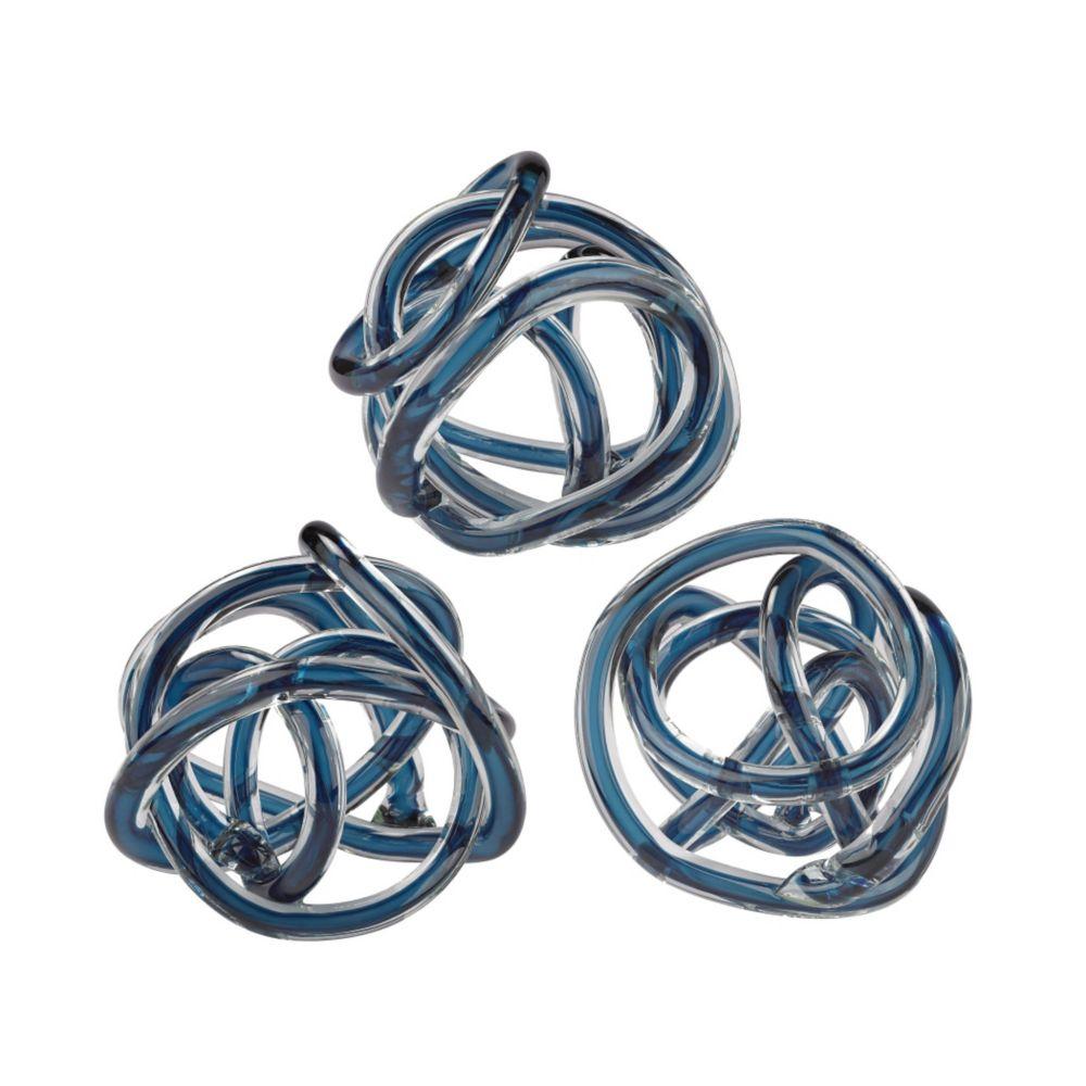 Navy Blue Glass Knot