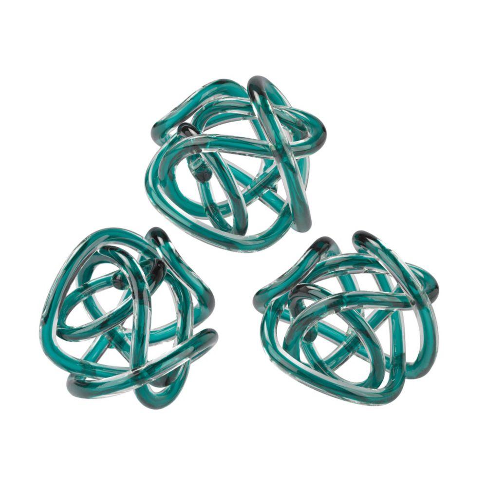 Aqua Glass Knot