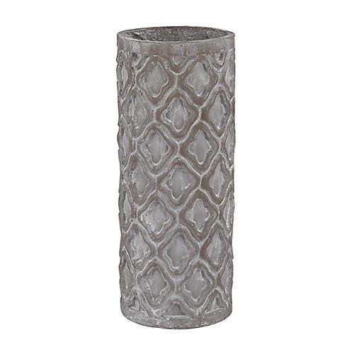 Petit vase gris antique avec motif boilogique