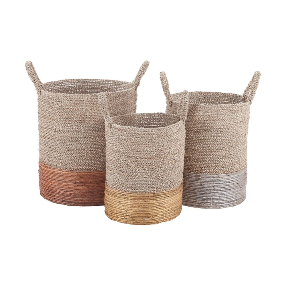 Mixed Metallics Nested Baskets