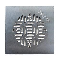 Floor Choice Drain de douche carré Bamboo de , 4,25 po