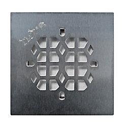 Floor Choice Drain de douche carré Abstract de , 4,25 po