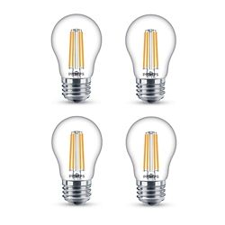 Philips LED 25W A15 Filament Clear (2200K) - Case of 4 Bulbs