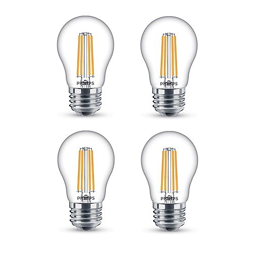 Philips 25W Equivalent Clear (2200K) A15 Filament LED Light Bulb (4-Pack)