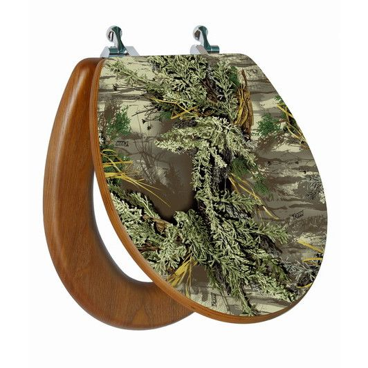 High Res 3D Image Camouflage Round, Regular Close. Chromed Metal Hinges