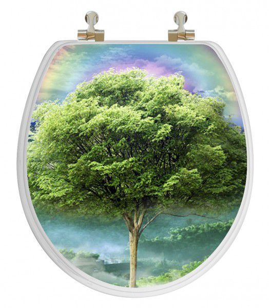 Vario Scenario 3D Hologram 4 Images In 1 Round Season Trees Regular Close Chrome Hinge