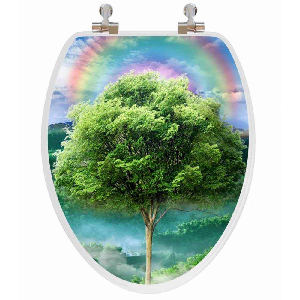 Vario Scenario 3D Hologram 4 Images In 1 Elongated Season Trees Regular Close Chrome Hinge