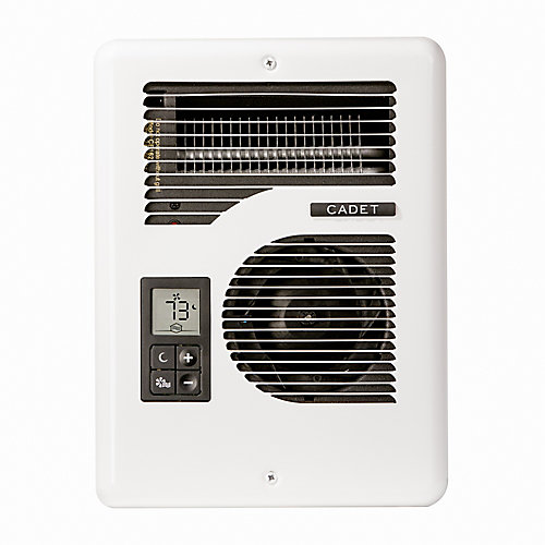 Energy Plus Electric Wall Heater, Multi-Volt, Complete Unit, White