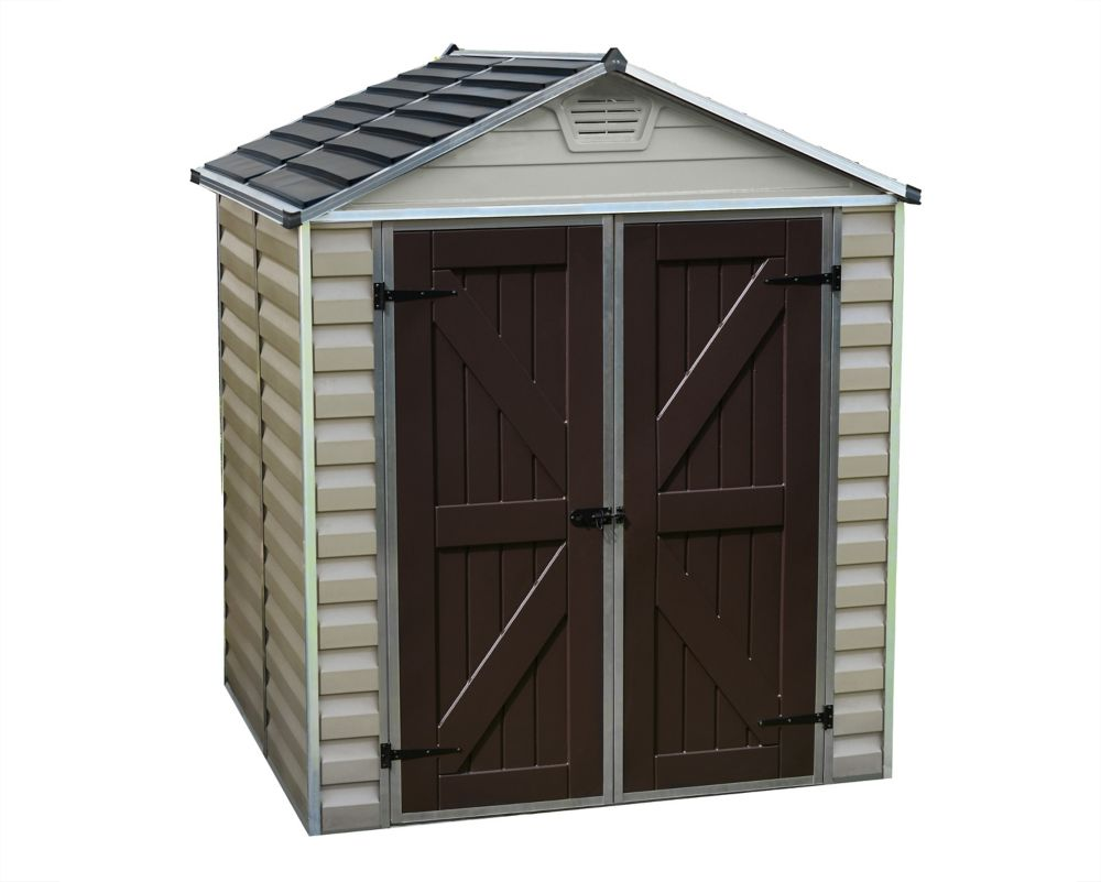 Suncast 54 Cu Ft Vertical Storage Shed The Home Depot