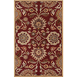 Home Decorators Collection Cambrai Burgundy 2 Feet x 3 Feet Indoor Area Rug