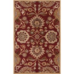 Home Decorators Collection Cambrai Burgundy 7 Feet 6 Inch x 9 Feet 6 Inch Indoor Area Rug